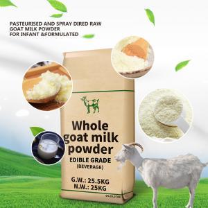 China GMP 28% Fat Full Cream Dry Whole Goat Milk Powder factory
