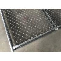 China 6ftx12ft Galvanized Chain Link Mesh Fence Panel Temporary With Base Stand on sale