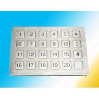 Buy cheap Flat Surface Rugged numeric Metal Keypad Watertight Mounted Elevator from Wholesalers