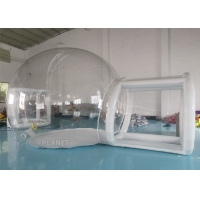 China 3m, 4m, 5m Outdoor Transparent Camping Inflatable Clear Bubble Tent With Airtight Tunnel factory