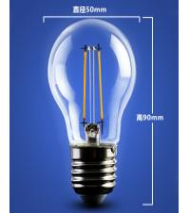China golden base aluminum plastic C35 A60 E27 E14 Edison RGB COG lamp LED Filament Bulb Light factory