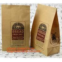 China Customize 3 Side Visible Clear Window Offset Printing Bakery Bags, Customize V Bottom with Clear Window Food Grade Toast factory