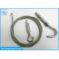 China Free Sample 7x7 Or 7x19 Cable Suspension Kit ForTrack Lighting Drop Ceiling factory