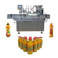 China Pneumatic Driven Water Filling Machine , Stainless Steel Beverage Filling Machine factory