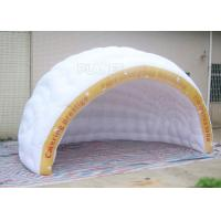 China Commercial Inflatable Igloo Tent Semi Circle Logo Printing Fire Retardant factory