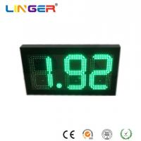 China 8.88 Digital Gas Price Signs In Green Color With 10 Inch Digits For USA Market factory
