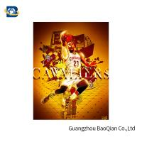 Quality Colorful 3D Lenticular Poster Printing For NBA Advertising 50 * 71cm for sale