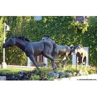 Buy cheap Popular Solid bronze Berlin broncos black horse statue for garden decoration from Wholesalers