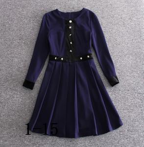 Quality 2017 burberry fashionable dress quality women dresses bulk order printing dress wholesale