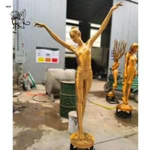 China Bronze Garden Fountain Brass Dancer Fairy Sculpture Life Size factory