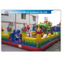 China Big PVC Inflatable Fun City With Dolls , Cartoon Inflatable Play Park For Kids factory