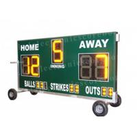 China 20'' 500mm Height Portable Baseball Scoreboard With Wheel Moving Stand factory