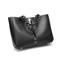 China OEM PU Leather Luxury Lady Bags 31X13X36CM factory