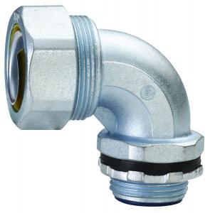 China HX Flexible Conduit Accessories , Plum Type Electrical Conduit 90 Degree Elbow factory