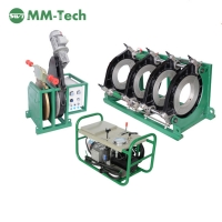 China 220v hydraulic plastic green pipe hdpe butt fusion welding machine for 200-450mm factory