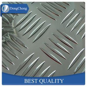 China High Strength 5 Bars Diamond Aluminum Sheet 0.4mm - 20mm Thickness SGS Certification factory