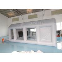 China Grey Moveable Inflatable Car Paint Spray Booth With Filter System 6x4x2.5m factory