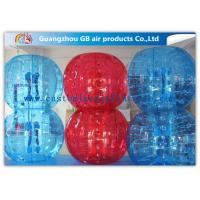 China Red And Blue Inflatable Human Bumper Ball Bubble Football Suits LOGO Acceptable factory