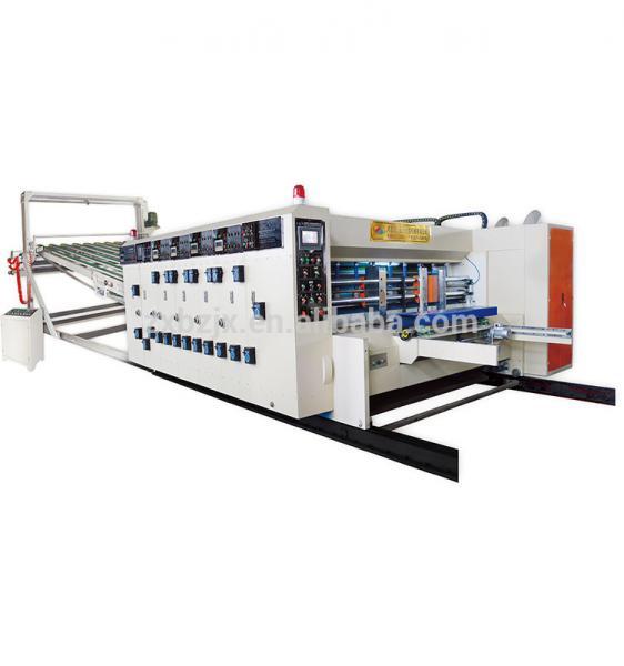 China Cardboard Paper Feeding Flexo Printing Slotting Die Cutting Machine factory
