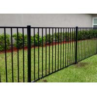 China Residential Black Wrought Iron Fence Panels For Flat Top 1000mm - 2400mm Length on sale