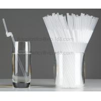 China Disposable cute plastic white straight drinking straw, PLA individually wrapped drinking Straws, PLA straws disposable factory