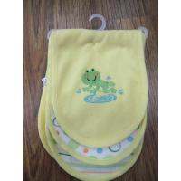 embroidered burp cloths,3 pack baby feeding double layered burp cloth