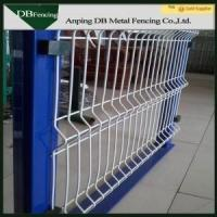 Security Galvanized Welded Wire Fence , Curved Fence Panels For Parks / Roads