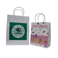 China Colorful Paper Carrier Bag Recycle With Twist Paper Handles white craft Paper CMYK printing on sale