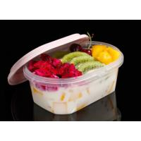 China Lock Seal Takeaway PP Food Trays Oval Box Customized Color / Size on sale