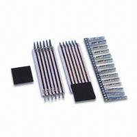 China 0.100-inch Center Film Crimp Pin Header with Current Rating of 1A and 250V AC Voltage Rating factory