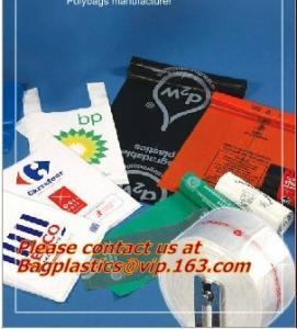 China Vest Handle Sealing bags, Handle and Plastic Material custom printed plastic t shirt bags factory
