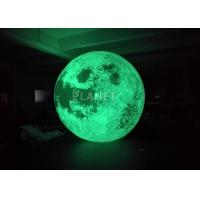 China Colorful Changing Large Inflatable Moon Ball 3m Dia Customized factory