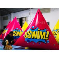 China Triangular Inflatable Marker Buoy With D Rings Customized Size factory