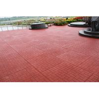 China Red Outdoor Rubber Mats Sound Absorbed Shockproof For Child Playground factory