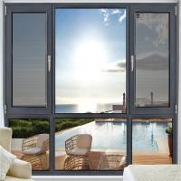 China Grey Anodized Aluminum Casement Windows 1.2mm - 2.0mm Profile Thickness factory