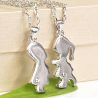 Buy cheap Boy and girl of lovers necklace wholesale from Wholesalers