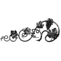 China ornamental design cheap wrought iron fence rosettes panels factory