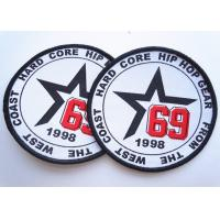 China Rubber 3D Custom Clothing Patches Embosssed With Backing factory