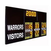 China AFL Type Electronic Soccer Scoreboard / Sports Scoreboard With 12 Inch Yellow Digits factory