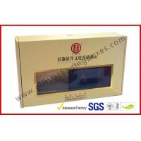 Buy cheap Khaki Window Strong Paper Board Packaging Gift Boxes Elegant Design from Wholesalers