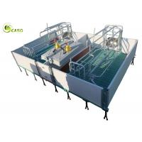 China Galvanized Adjustable Floding Pig Farrowing Crate Plastic Hollow Panel Pig Stall factory