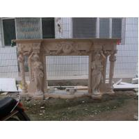 Buy cheap white marble fireplace with lady from Wholesalers