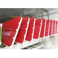 China Rock Wool Wall Roof Panel PU Sandwich Panel Line 3 - 8m / Min on sale