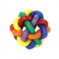China Interwoven Dog Balls For Aggressive Chewers Colorful Rubber Material factory