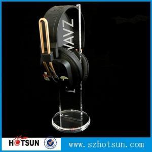 China 2016 Hot sale acrylic headphone/earphone/ headset display stand/rack factory