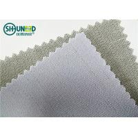Buy cheap 230gsm 3.5H Hand Feeling Fusible Interlining Cotton Fusing Garment Woven Rolls For Caps from Wholesalers