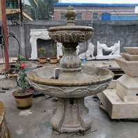 China Marble Antique Fountain Natural Stone Carving For Garden Decoration factory