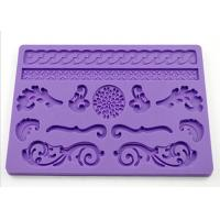 China Gift Purple Silicone Dessert Molds , Rectangle Cake Molds For Kids on sale