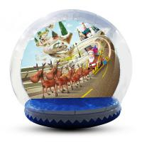 China Festival Decoration Airblown Inflatable Snow Globe Customized Logo factory