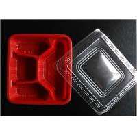 China Red Disposable Plastic Trays Polypropylene Food Packaging For Storage on sale